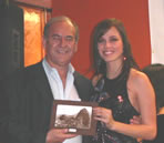 Roger and Ms. World 2005 (from Peru)
